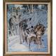Вълци играещи в снега - ушит
