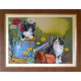 Котета в градината - ушит