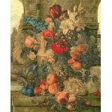 Натюрморт с цветя и плодове