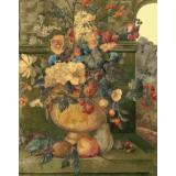 Натюрморт с цветя и плодове II