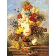 Натюрморт с цветя и плодове III